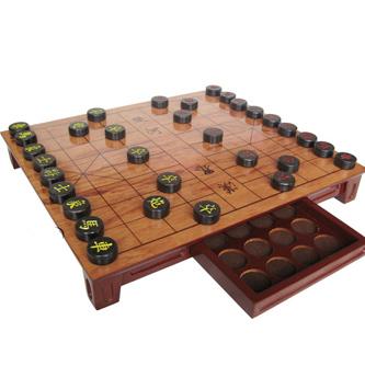 乌檀木象棋,带抽屉棋盘