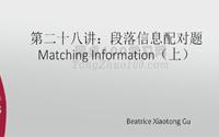 雅思阅读第二十八讲《段落信息配对题Matching Information》(上)