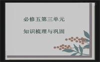 高中语文第四单元复习课《知识梳理与巩固》(必修5)