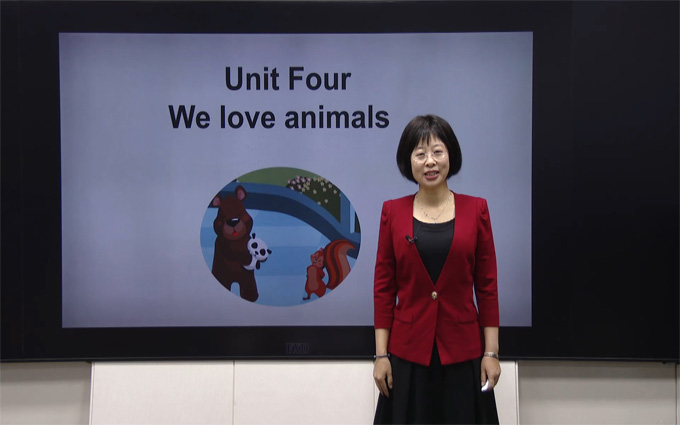 三年級英語上冊Unit 4 We love animals   Period 1